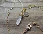 Cancer zodiac beadwork necklace, brass Zodiac charm necklace, horoscope necklace, Custom Astrology charm pendant