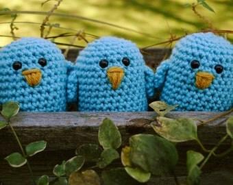Woolie Baby Blue Birds Set of Three