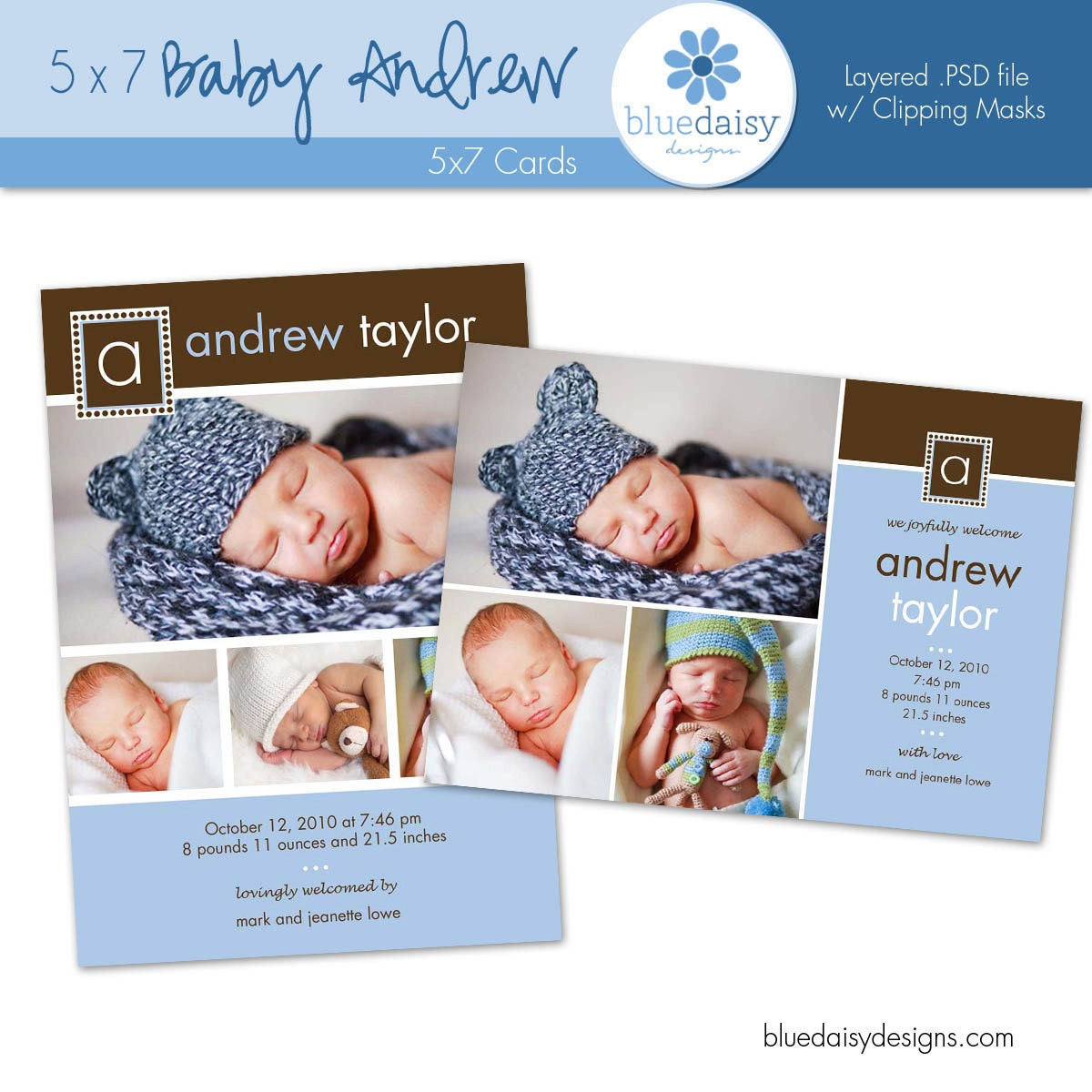 doc baby boy birth announcement template baby boy andrew 5x7 birth announcement photographer template baby boy birth announcement template