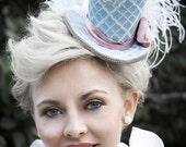 Nautical Mini Top Hats Anchors Blue Pink Headpiece Marie Antoinette