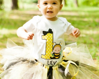 Bumble Bee Birthday T Shirt or Bodysuit Personalized