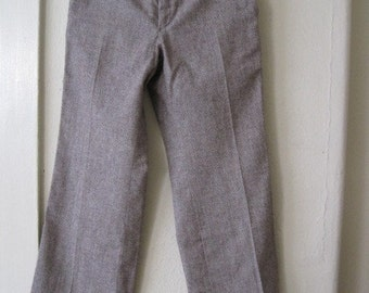 Vintage YSL Yves Saint Laurent Wool Trousers 1970's small
