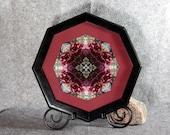 Red Rose Fine Art Photograph Sacred Geometry Kaleidoscope Framed Frostbitten