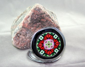 Monarch Butterfly Compact Mirror Pocket Mirror Boho Chic Mandala New Age Sacred Geometry Hippie Kaleidoscope Unique Gift Summer Sensation
