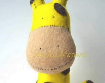 Summit the Giraffe- Felt Animals
