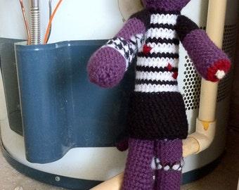 Amigurumi Crochet Cat, Zombie Cat Made To Order