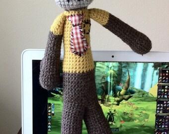Amigurumi Crochet Monkey, Disgruntled Employee Monkey Made To Order