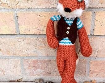Amigurumi Crochet Fox, Fantastic Hipster Fox