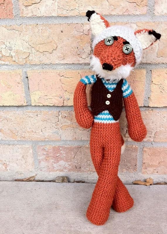 Amigurumi Crochet Fox Fantastic Hipster Fox by MyCreepyCritters