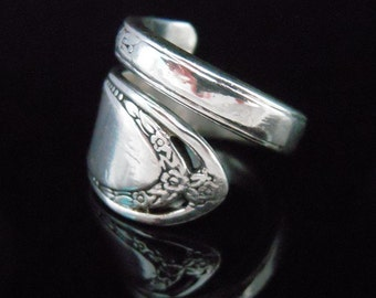 Spoon Ring, Lovelace, Floral Ornate Spoon Jewelry