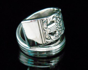 Recycled Spoon Ring - Coronation - Fork and Spoon Jewelry