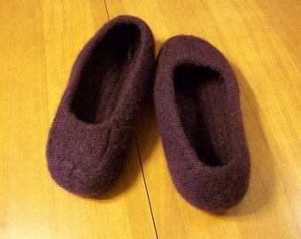 Felted Slippers Knit Blackberry Women Men Children non slip bottom