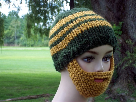 Bearded Beanie Greenbay Packers Team Colors