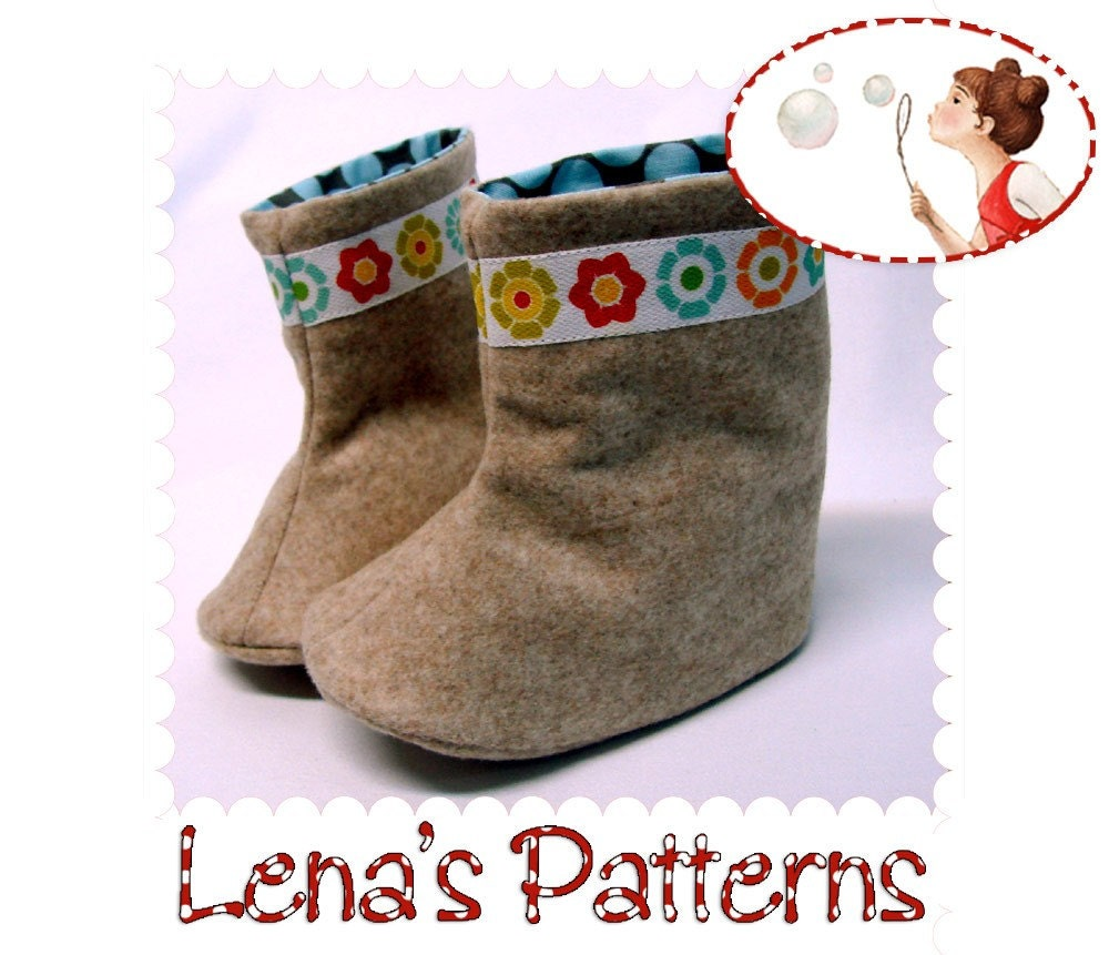Baby Boots Sewing Pattern Instant Download Pdf Baby Shoes