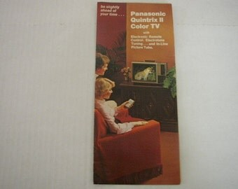 Panasonic Quintrix II TV Booklet Color Television Vintage Ad