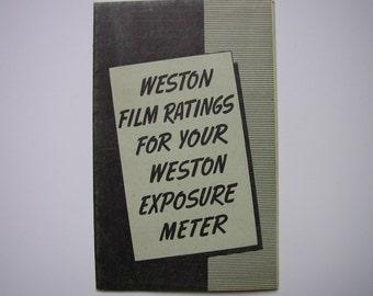 Vintage Weston Brochure 1939 Photography Booklet Film Emulsion Ratings for Exposure Meter