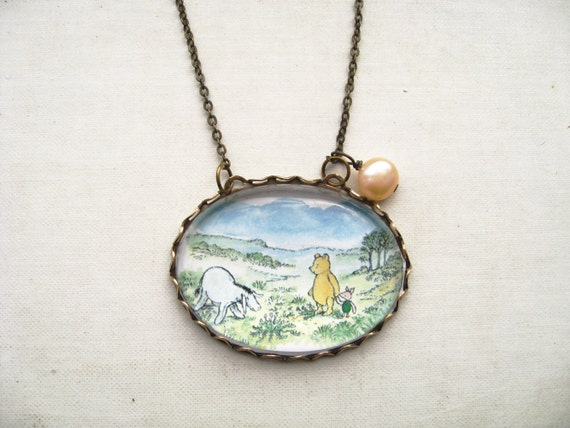 Winnie the Pooh with Eeyore Necklace