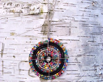 African Beaded Necklace, Maasai Beadwork, Traditional (Large), for Summer