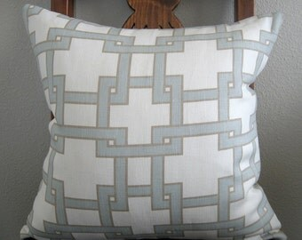 Thom Filicia Citysquare Mistymorn linen ivory blue taupe designer throw pillow cover