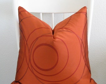 Pillow Sale tangerine tango red circles geometric decorative pillow cover