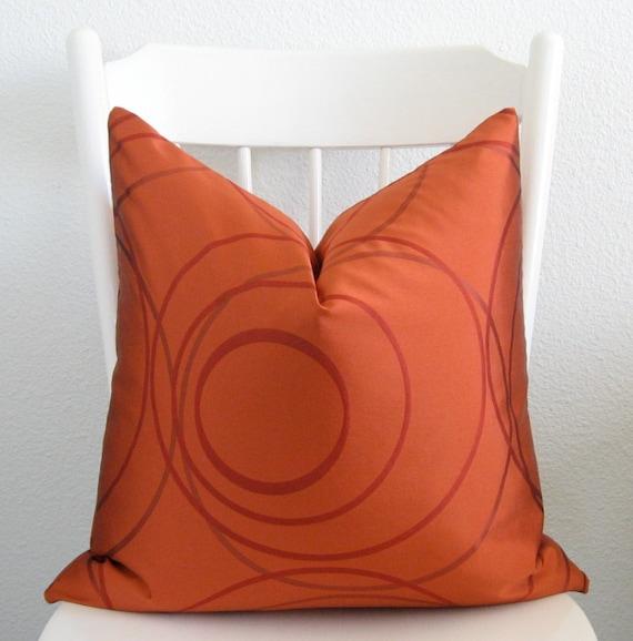Pillow Sale tangerine tango red circles geometric decorative pillow cover