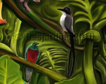 ACEO Print Detail 5 Jungle