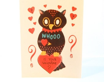 Vintage Valentine Reproduction Owl