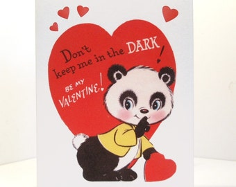 Vintage Valentine Reproduction Panda Bear