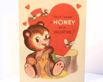 Vintage Valentine Reproduction Honey Bear
