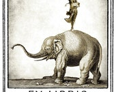 Hema the Elephant Rider Bookplates (Personalized or Blank)