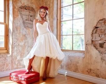 Bubble Hem Wedding Dress - Hello Dolly