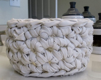 PDF Pattern for Rag Crochet Basket