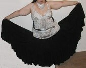 Custom Tribal - Gypsy Dance Skirt, Very Twirly, Soft and Strong