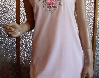 Light Pink Embroidered Slip