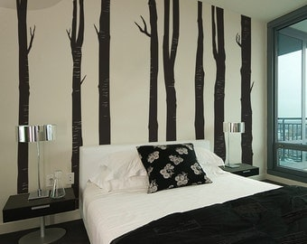 Woodland Trees - Set of 8 - Vinyl Wall Decal