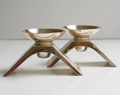 Midcentury Candle Holders by WMF Ikora - Silverplate Made in Germany