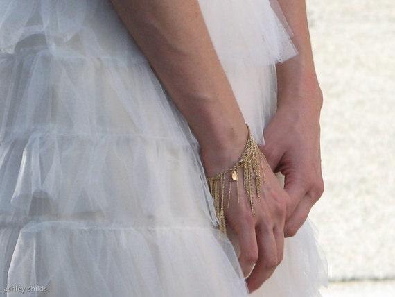 Deluxe & Delicate 14ktgf Gold Chain Fringe Bracelet, AC0249