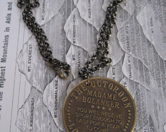 SALE...The Octoroon Bordello Brass Necklace, Harlot, Burlesque Jewelry
