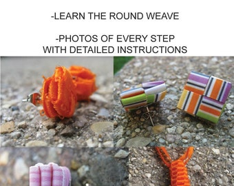 Weaving PDF Tutorial - origami - folding - jewelry making - ribbon - paper