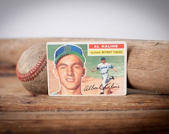 Al Kaline 1956 Topps #20 Baseball Trading Card, Vintage 50s, Detroit Tigers, Hall of Fame Player, MLB Sports Memorabilia