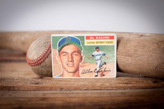 Vintage 1956 Topps Al Kaline Baseball Trading Card, BV 125.00