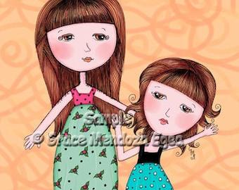 Melody & Melanie (Sisters) Print