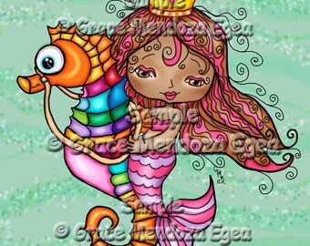 Mari Mar Mermaid Print