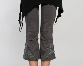 Double Pointed Mini Skirt - over layer skirt - mini skirt - woman clothing