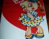 40s Original Valentine Greeting Card To Teacher USA Stonybrook
