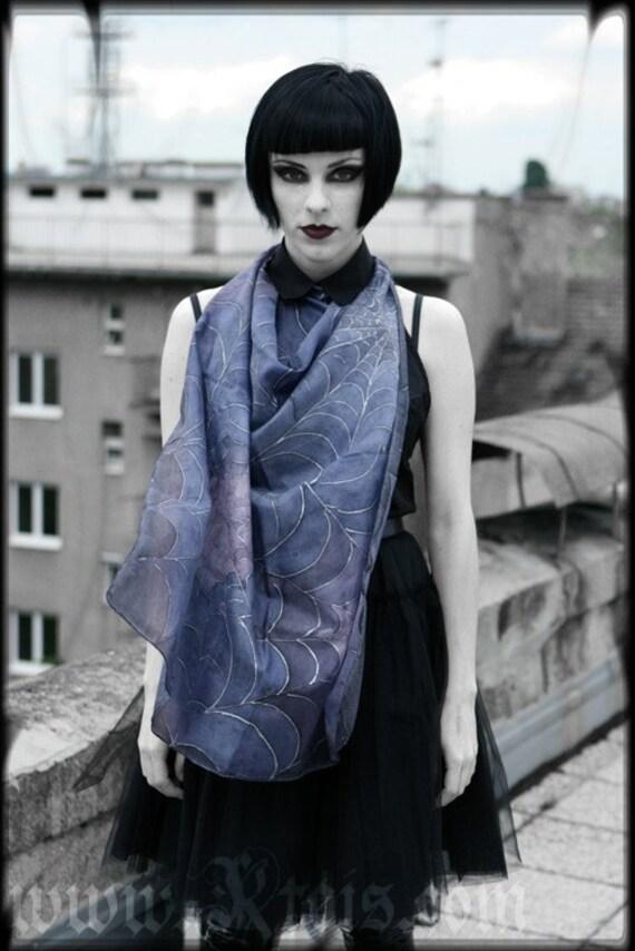 Gothic silk scarf - haute couture fashion