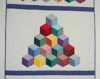 Falling Blocks Quilt Pattern Tutorial Easy To Make Uses