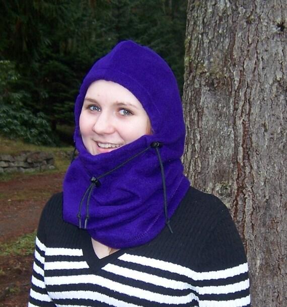 Dark Violet Adult Fleece Balaclava Hat