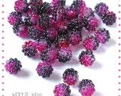 50pcs of Acrylic 2-Tone Berry Beads