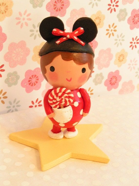 Ready to Ship- Minnie Mouse cake topper